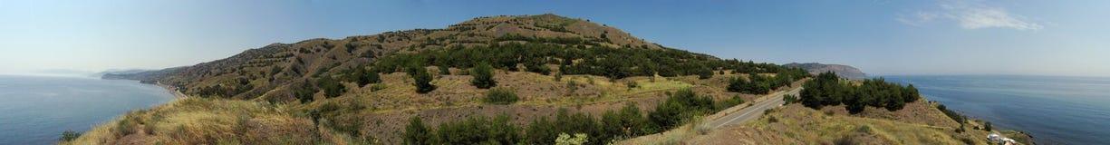 Seacost panorama 360 degree. Crimea, Ukraine Royalty Free Stock Photo