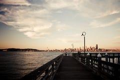 Seacrest小游艇船坞&港口Ave SW 库存图片
