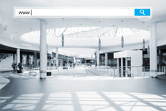 Seacrh in mall Royalty Free Stock Photography