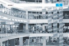 Seacrh w centrum handlowym Fotografia Stock