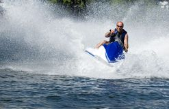 Seadoo in action. Action shot of seadoo with great waterspray Stock Image