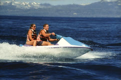 Seadoo with two riders Royalty Free Stock Photography