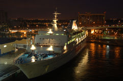 seaeascape för port för fartygkasinoeverglades fotografering för bildbyråer