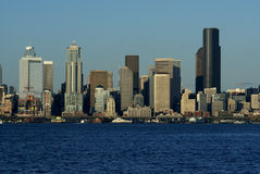 Seaettle's tallest building. Skyline view of Seattle featuring Columbia Tower - Seattle's tallest building Stock Images