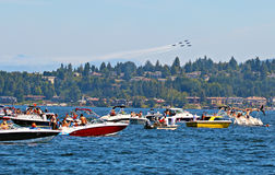 Seafair Blue Angels Royalty Free Stock Photo