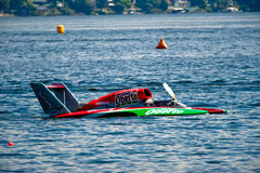Seafair Sunday Hydro Races. Unlimted Hydro Race boat on Lake Washington Seafair Sunday in Seattle WA Royalty Free Stock Photo