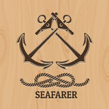Seafarer Club Emblem Royalty Free Stock Images