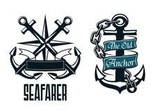 Seafarer marine heraldic emblem and symbol Stock Image