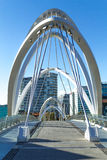 Seafarers Bridge Melbourne. The Seafarers Bridge is a footbridge over the Yarra River between Docklands and South Wharf in Melbourne, Victoria, Australia Royalty Free Stock Photo