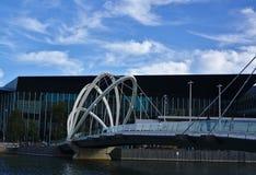 Seafarers Bridge over Yarra River stock photography