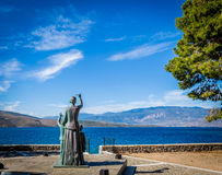 The Seafarers Wife. This is The Wife of the Seafarer by Kostas Ananidas, 2008, at Galaxidi, a small and peacefull fishermen village of Fokida in Greece. This Stock Image