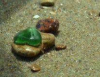 Seafinds, γυαλί χρώματος, πέτρα Στοκ φωτογραφία με δικαίωμα ελεύθερης χρήσης