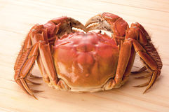 Seafood. Crab on the wooden background Royalty Free Stock Images