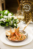 Seafood. In a luxurious restaurant Royalty Free Stock Photography