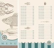 Seafood. Menu for beer and seafood Royalty Free Stock Photo