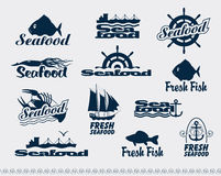 Seafood. Set of logos for seafood Royalty Free Stock Image