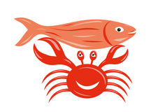 Seafood. Is in the white background vector illustration