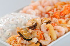 Seafood appetizer Royalty Free Stock Photos