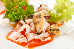 Seafood appetizer Royalty Free Stock Photo