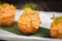 Seafood appetizer in Japanese style Royalty Free Stock Photo