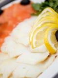 Seafood arrangement. Royalty Free Stock Photos