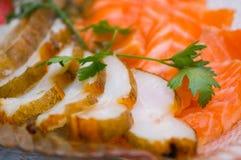 Seafood arrangement Stock Photo