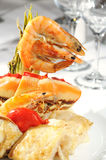 Seafood Arrangement Royalty Free Stock Photos