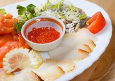 Seafood arrangement royalty free stock photo