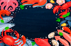 The seafood assortment Stock Photography