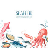 Seafood background Royalty Free Stock Photography