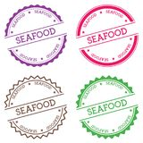 Seafood badge isolated on white background. Royalty Free Stock Photography