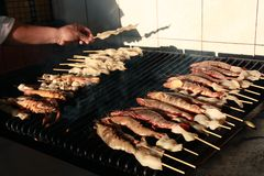 Seafood barbecue Stock Photography