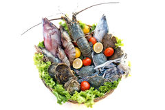 Seafood basket Royalty Free Stock Image