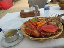 Seafood basket royalty free stock image