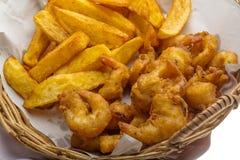 Seafood basket Stock Photo