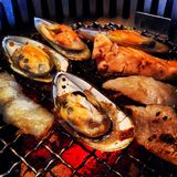 Seafood BBQ Royalty Free Stock Photography