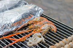 Seafood bbq Stock Images