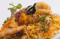 Seafood  biruyani Stock Photos