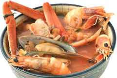 Seafood bowl Stock Images