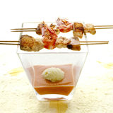 Seafood brochette 01 Royalty Free Stock Image