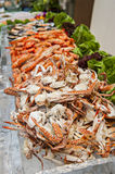 Seafood Buffet. Shrimp and crab Royalty Free Stock Photo