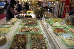 Seafood buffet restaurant busan royalty free stock image