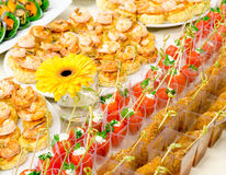 Seafood buffet table Royalty Free Stock Photo