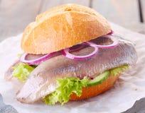 Seafood burger Royalty Free Stock Photos