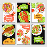 Seafood Cards Banners vector illustration
