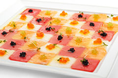 Seafood Carpaccio Stock Images