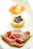 Seafood Carpaccio (Salmon, Tuna and Scallop) Royalty Free Stock Photo