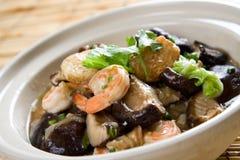 Seafood casserole Stock Image