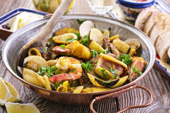Seafood Cataplana Royalty Free Stock Photos