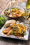 Seafood Cataplana Royalty Free Stock Images